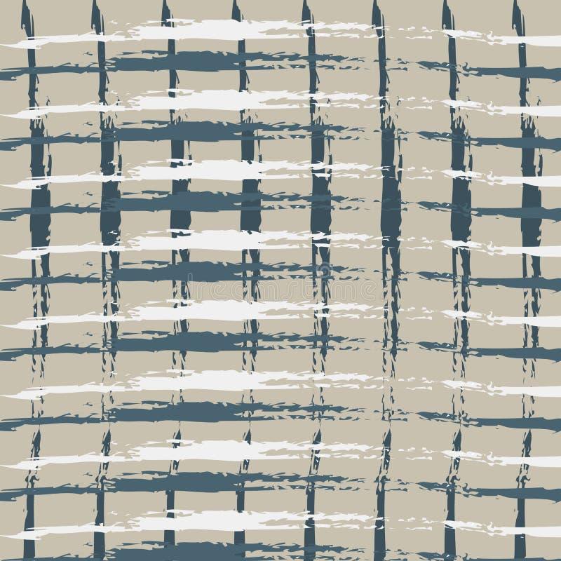 Bezszwowy geometryczny śliczny klatkowy wzór na burlap łasym Druk dla tkaniny, tkaniny produkcja, tapeta, pokrywy, powierzchnia,  ilustracja wektor