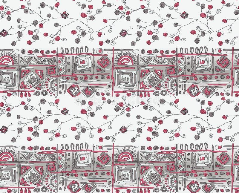 Bezszwowy geometryczny abstrakt granicy tło ilustracja wektor
