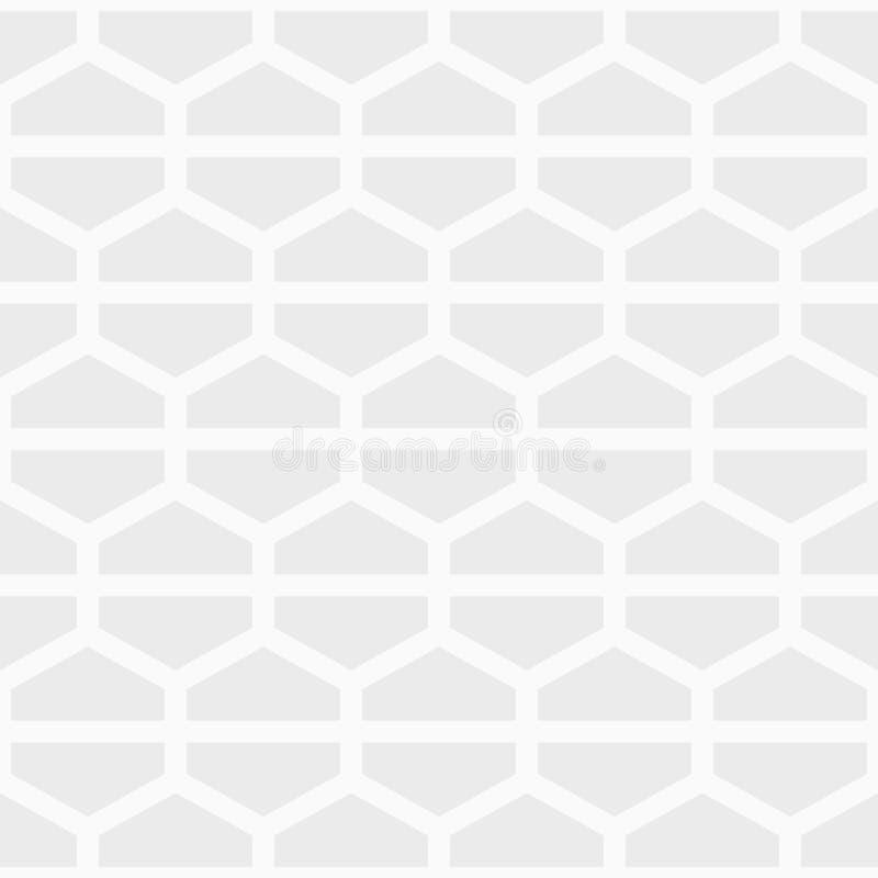 Bezszwowy geometryczny abstrakta wzór sześciokąty, dzielący w dwa części royalty ilustracja