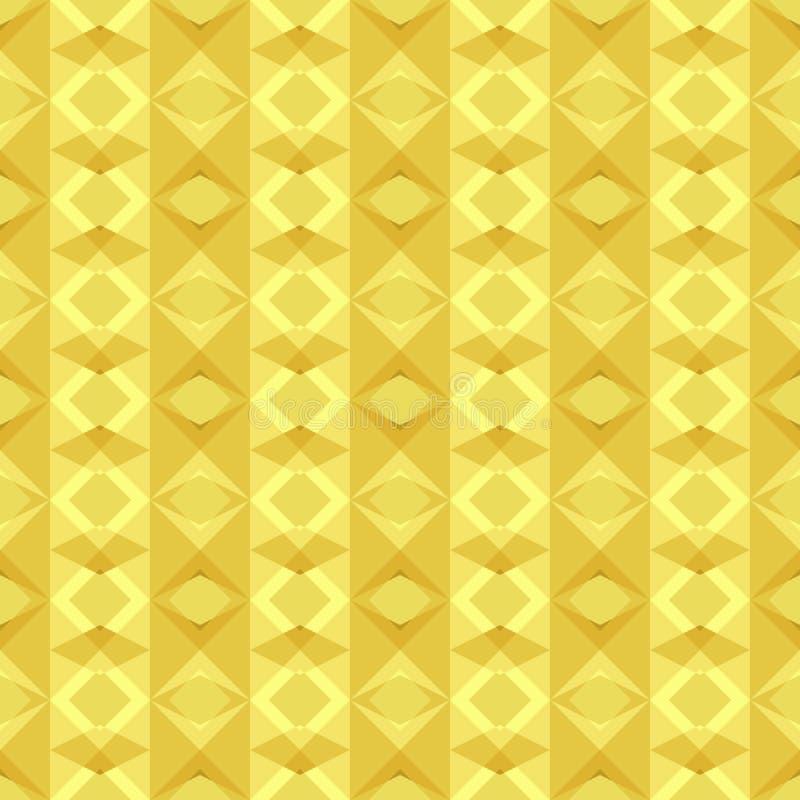 Bezszwowy geometryczny deseniowy tło żółtego złota wielobok kształtuje z pionowo lampasami Płaski projekta wektor ilustracja wektor