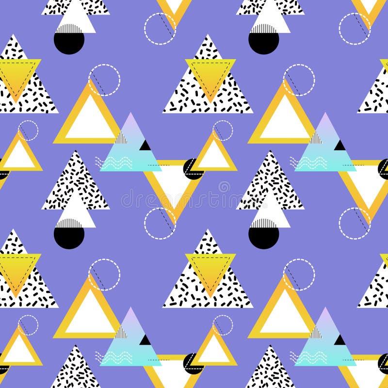 Bezszwowy geometryczny druk z prostymi kształtami i liniami royalty ilustracja