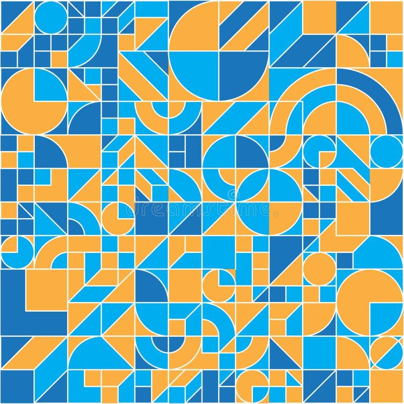 Bezszwowy geometryczny kolorowy mieszkanie wzór ilustracja wektor