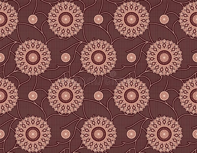 Bezszwowy geometryczny kwiecisty wz?r royalty ilustracja
