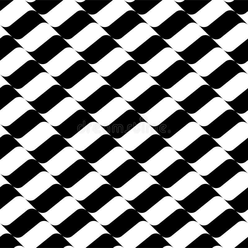 Bezszwowy geometryczny płaski kolorowy wzór ilustracji