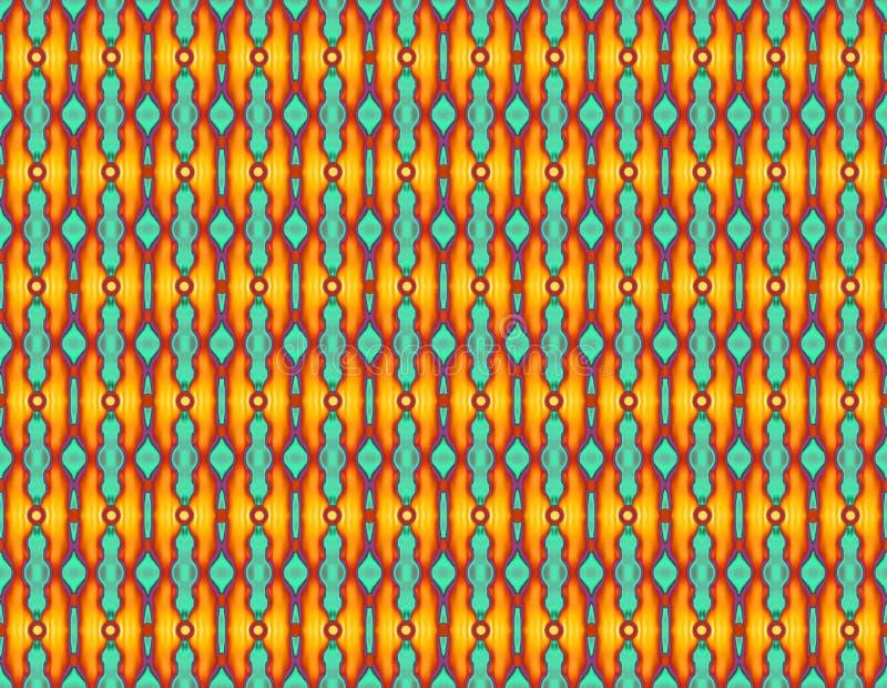 Bezszwowy geometryczny stubarwny wzór z abstrakcjonistycznym elements_ ilustracja wektor