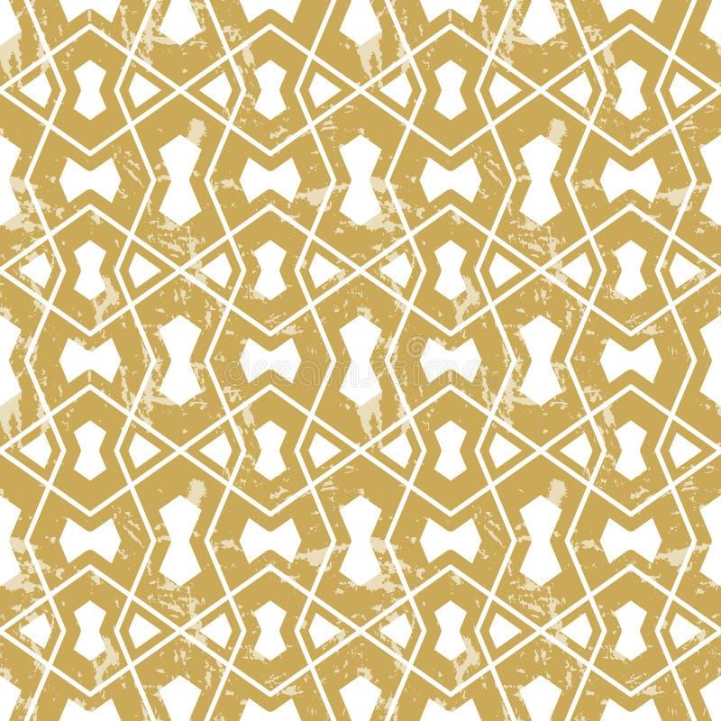 Bezszwowy geometryczny tafluje wzór ilustracji