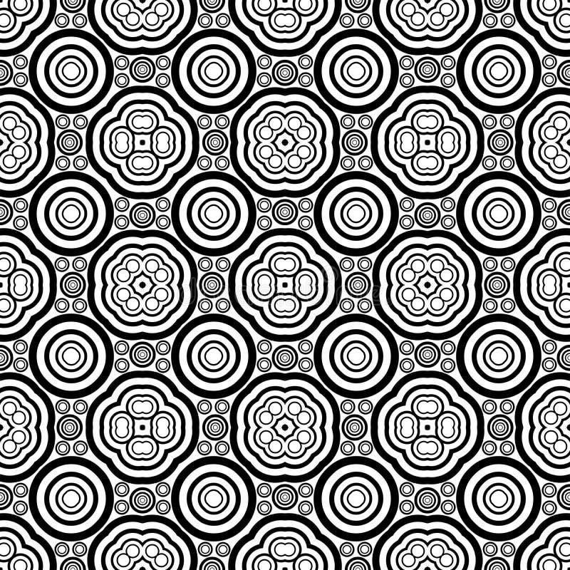 Bezszwowy geometryczny wektorowy czarny i biały wzór royalty ilustracja
