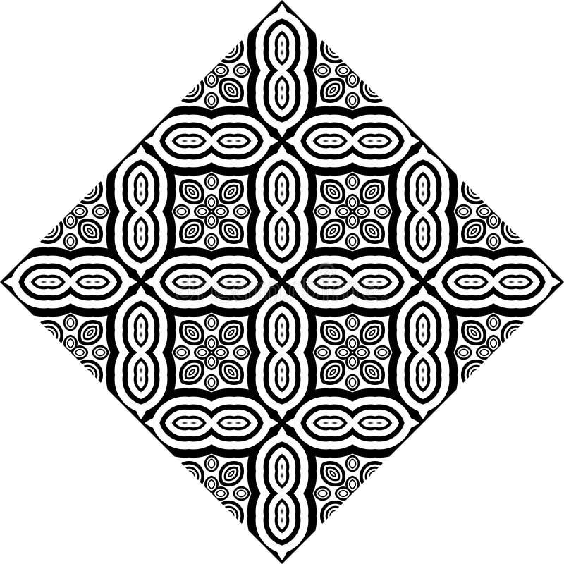 Bezszwowy geometryczny wektorowy czarny i biały wzór ilustracja wektor