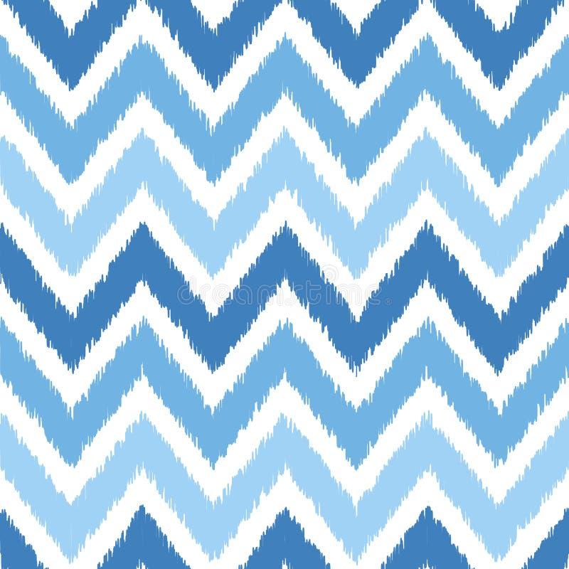 Bezszwowy geometryczny wzór, ikat tkaniny styl ilustracja wektor