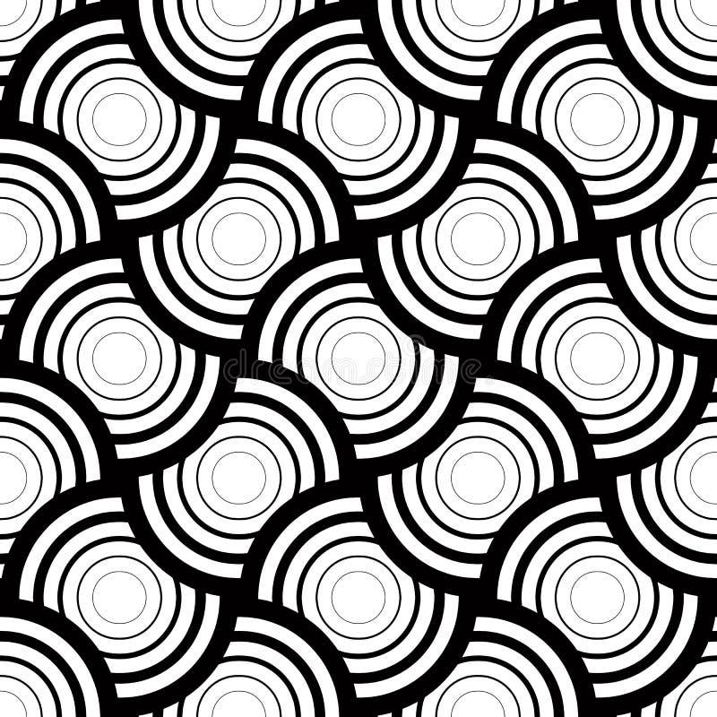 Bezszwowy geometryczny wzór, prosty wektorowy czarny i biały lampas ilustracja wektor