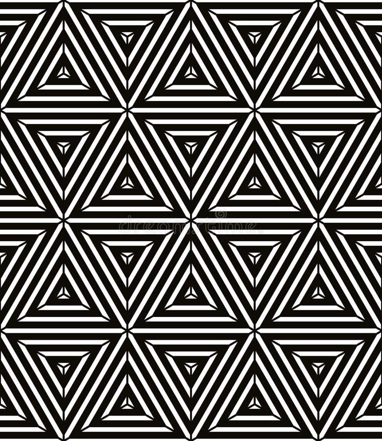 Bezszwowy geometryczny wzór, prosty wektorowy czarny i biały lampas royalty ilustracja