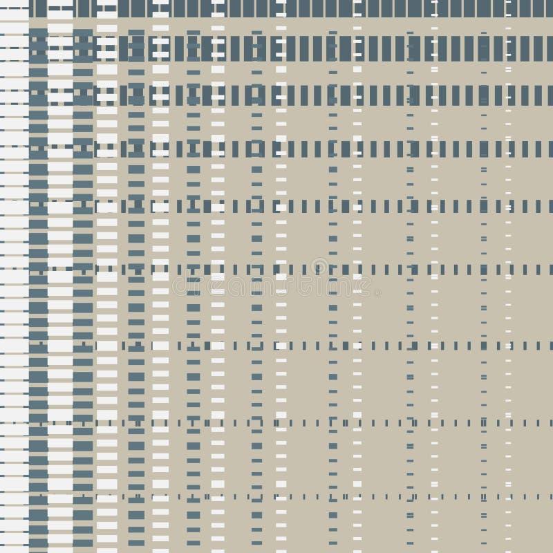 Bezszwowy geometryczny wzór w śliczny klatkowym na burlap łasym Druk dla tkaniny, tkaniny produkcja, tapeta, pokrywy, powierzchni royalty ilustracja