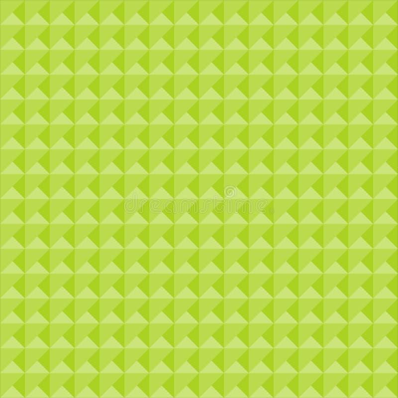 Bezszwowy geometryczny wzór w cieniach zieleń royalty ilustracja