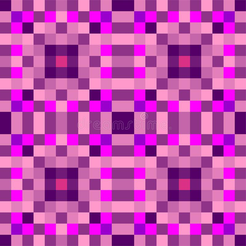 Bezszwowy geometryczny wz?r kwadraty szablon ilustracja wektor