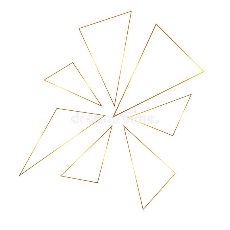 Bezszwowy geometryczny złoty tło bezszwowy wektora struktura złota Geometryczny tło z trójbokiem Złoto royalty ilustracja