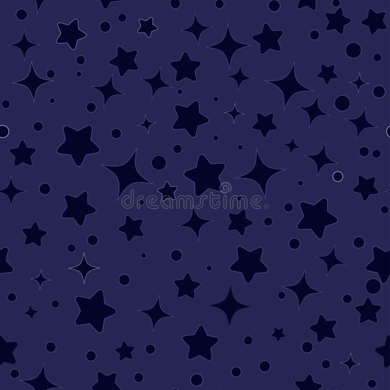 Bezszwowy gwiazda wzoru wektor ilustracji