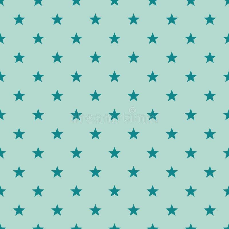 Bezszwowy gwiazdowy kształta wzór Tekstura drukować na okładkowym papierze lub tkaninie dla wakacyjnego pamięć dnia Wektorowa Geo ilustracja wektor