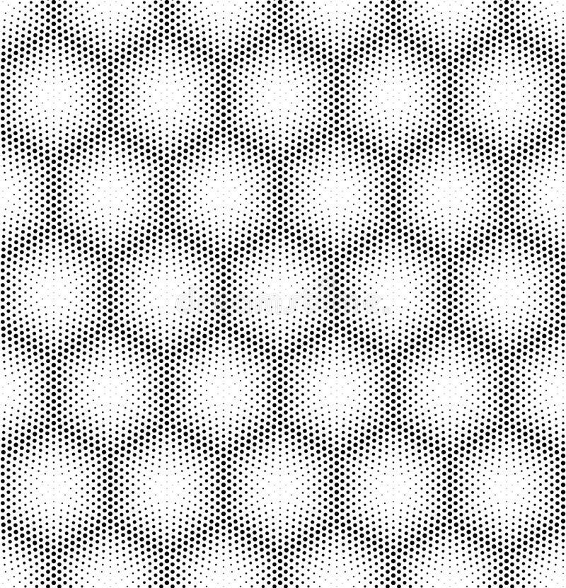 Bezszwowy halftone wektoru tło ilustracja wektor