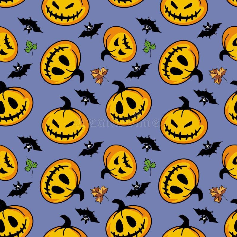 Download Bezszwowy halloween wzoru ilustracja wektor. Ilustracja złożonej z ośmiornica - 42525232