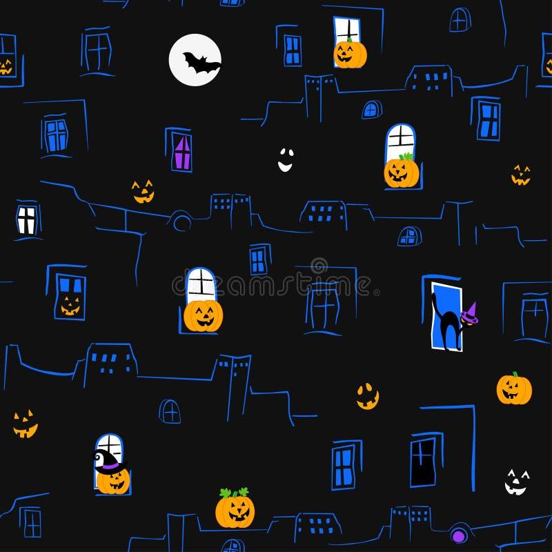 bezszwowy halloween wzoru ilustracja wektor