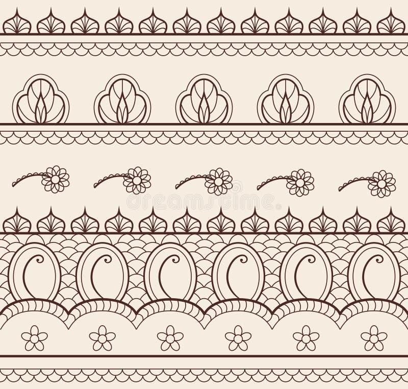 bezszwowy henna hindus royalty ilustracja