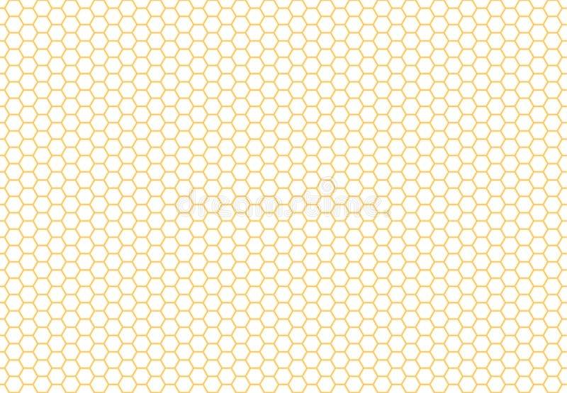 Bezszwowy Honeycomb tło Prosty bezszwowy wzór royalty ilustracja