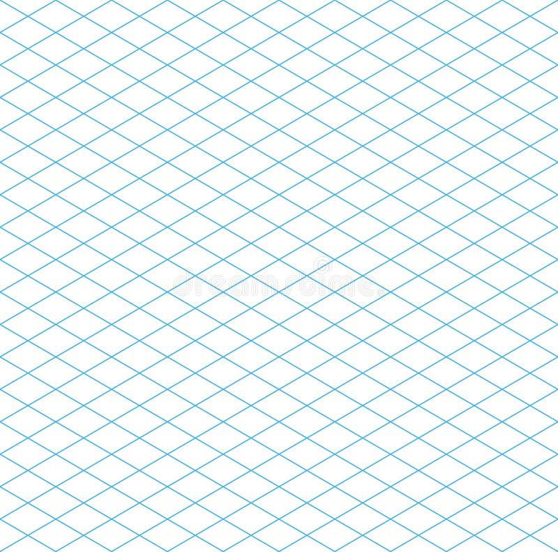 Bezszwowy Isometric siatka wzór ilustracji
