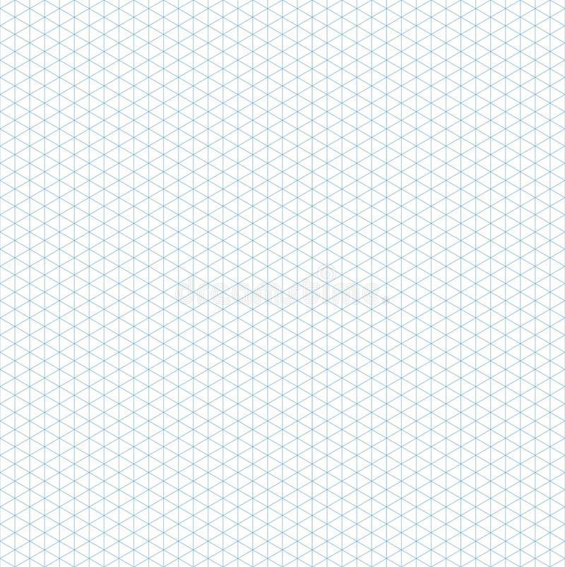 Bezszwowy Isometric siatka wzór Szablon dla projekta wektoru ilustracji royalty ilustracja