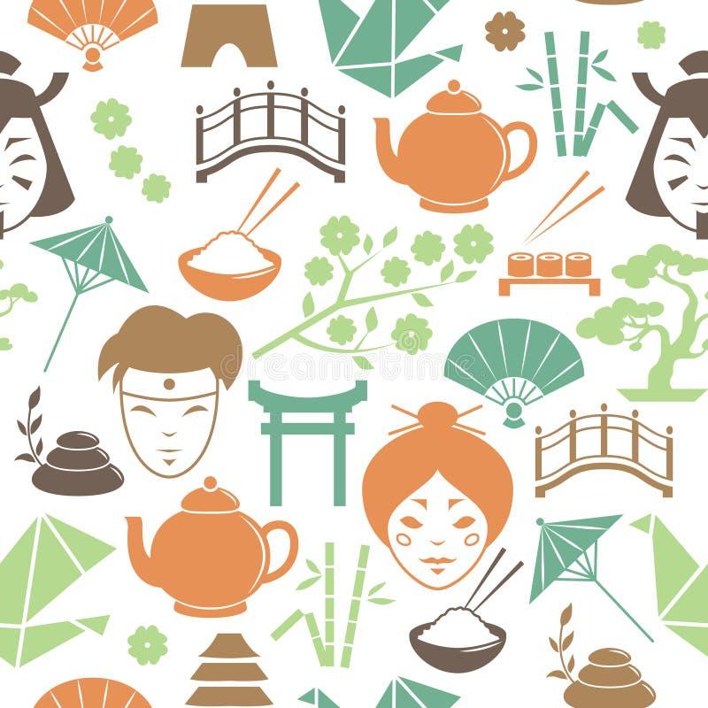 Bezszwowy japończyka wzoru tło royalty ilustracja