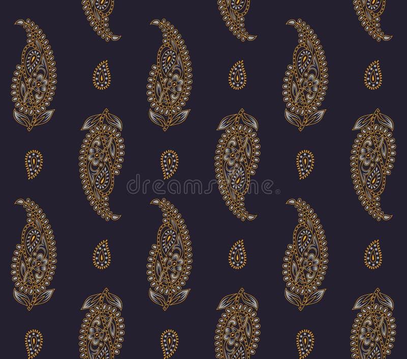 Bezszwowy jedwabniczy Paisley wzór royalty ilustracja
