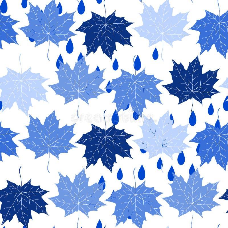 bezszwowy jesień tło ilustracja wektor