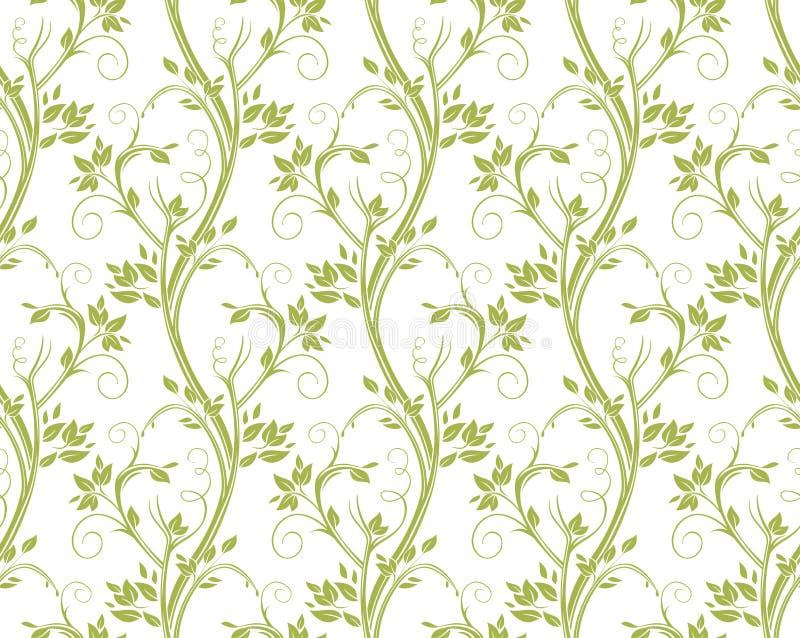 Bezszwowy kędzierzawy kwiecisty wzór royalty ilustracja
