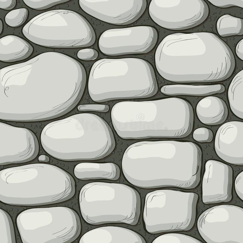 Bezszwowy kamienia wzór royalty ilustracja
