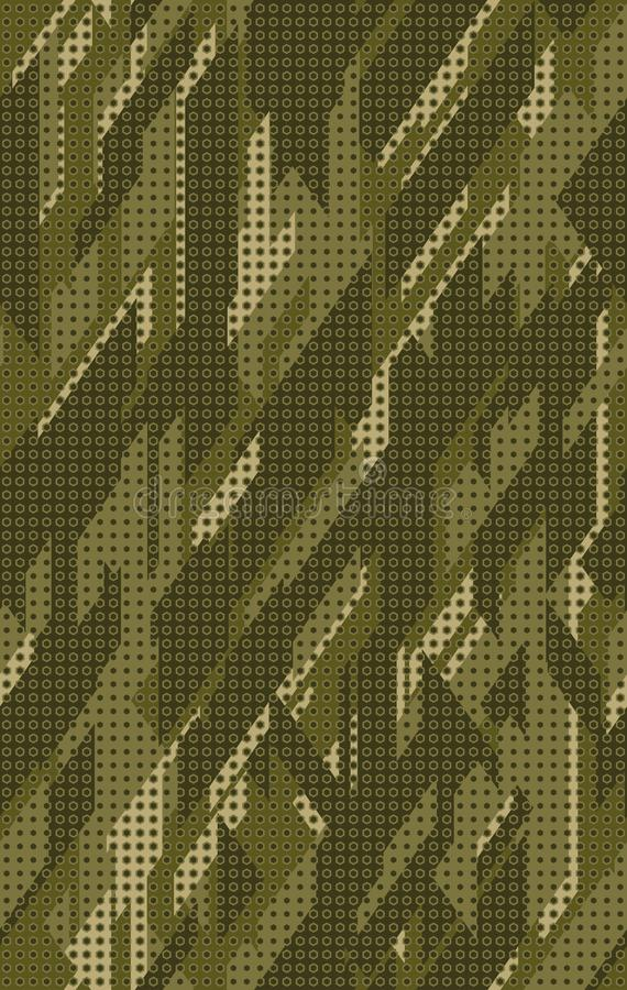 bezszwowy kamufla?u wzoru Wielostrza?owego cyfrowego kropkowanego heksagonalnego camo tekstury militarny t?o ilustracja wektor