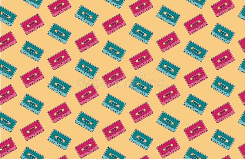 Bezszwowy kaseta wzór, tło/ obrazy stock