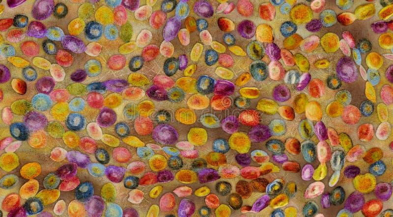 Bezszwowy kolorowy abstrakcjonistyczny projekta tło royalty ilustracja