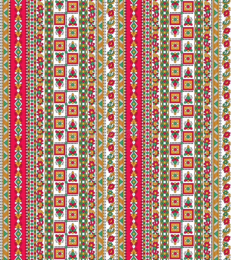 Bezszwowy kolorowy aztec granicy tło ilustracji