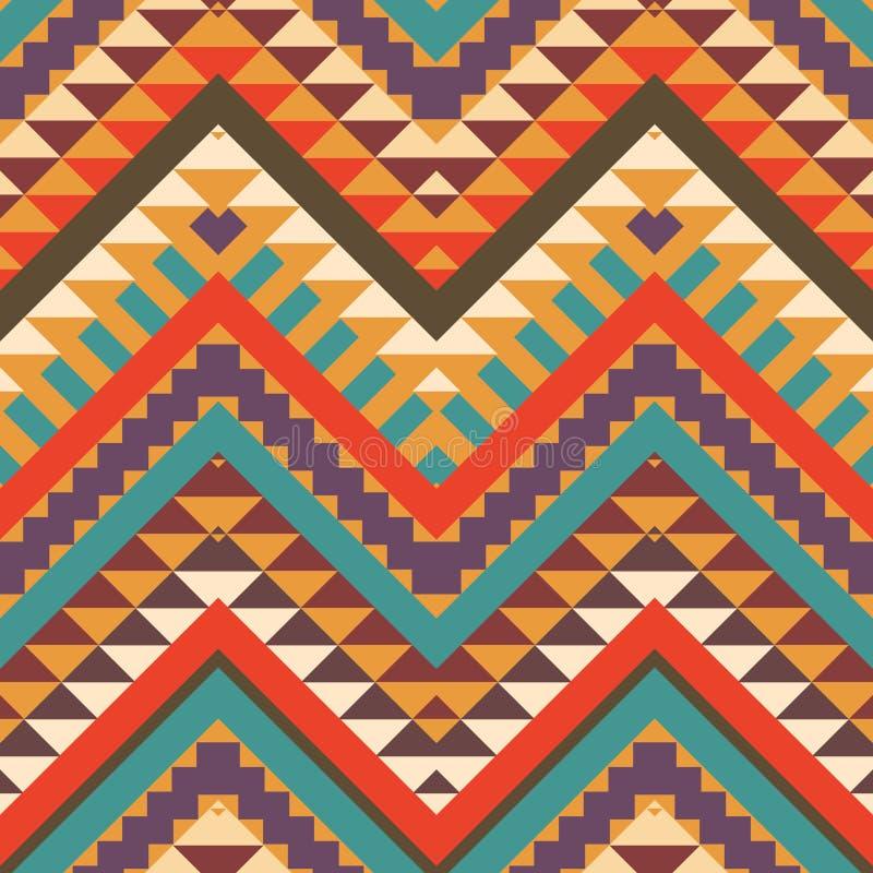Bezszwowy kolorowy aztec wzór ilustracji
