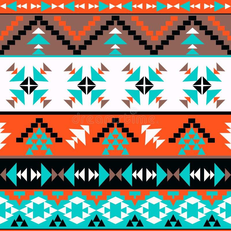 Bezszwowy kolorowy aztec wzór royalty ilustracja
