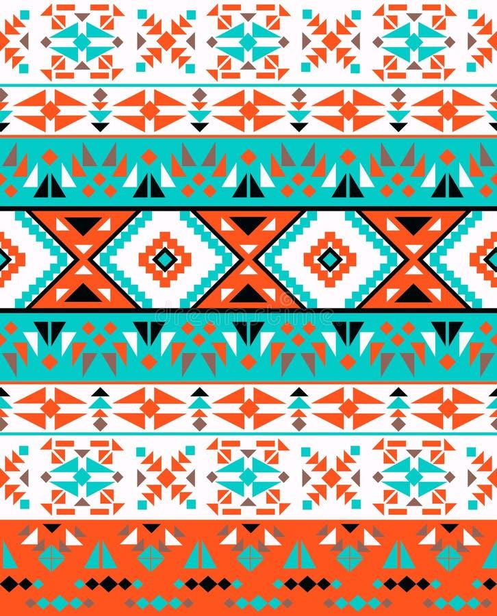 Bezszwowy kolorowy etniczny wzór ilustracja wektor