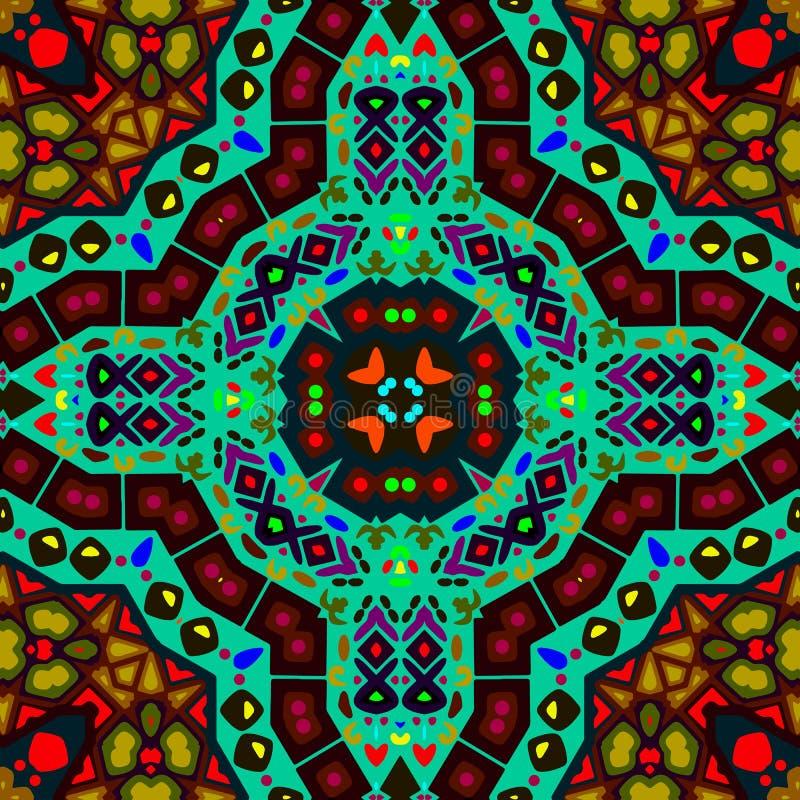 Bezszwowy kolorowy etniczny wzór fotografia royalty free