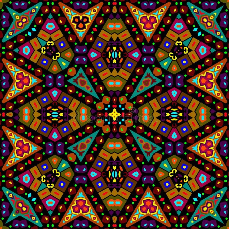 Bezszwowy kolorowy etniczny wzór obraz stock
