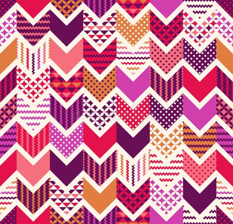 bezszwowy kolorowy geometryczny zygzakowaty wzór ilustracji