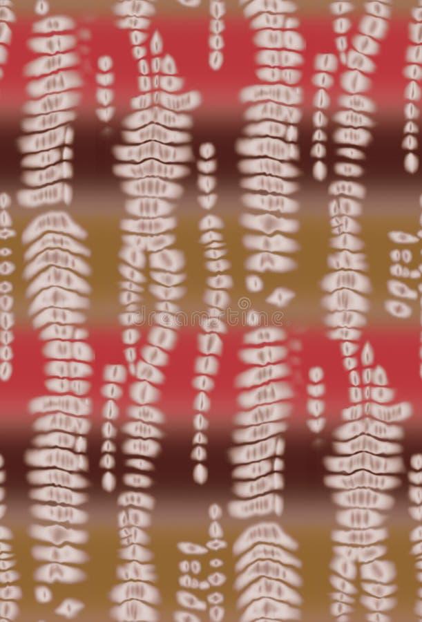 Bezszwowy kolorowy krawata barwidła projekta tło ilustracja wektor
