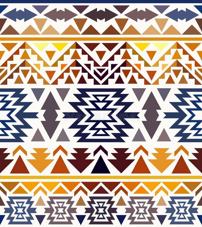 Bezszwowy kolorowy navajo wzór ilustracji