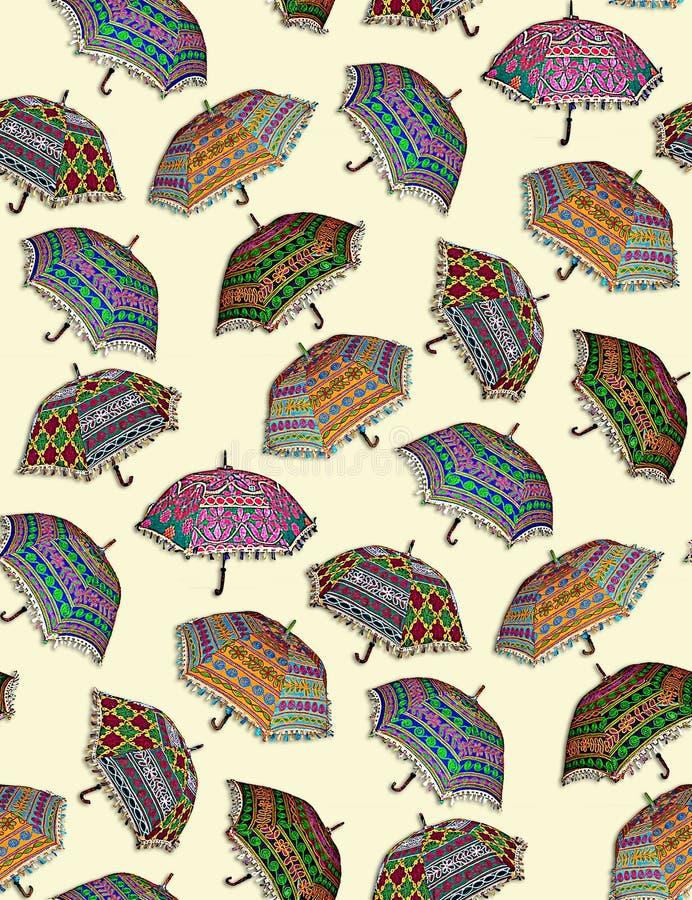 Bezszwowy kolorowy parasola wz?r ilustracja wektor
