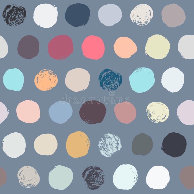 Bezszwowy kolorowy polki kropki wzór zdjęcie stock