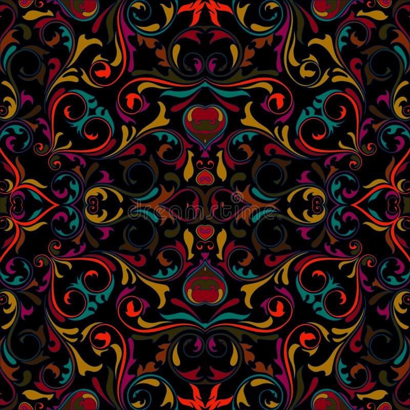 Bezszwowy kolorowy rocznika wzór obraz royalty free