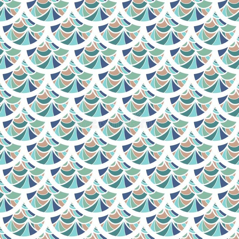 Bezszwowy kolorowy rzeczny rybi waży ilustracji