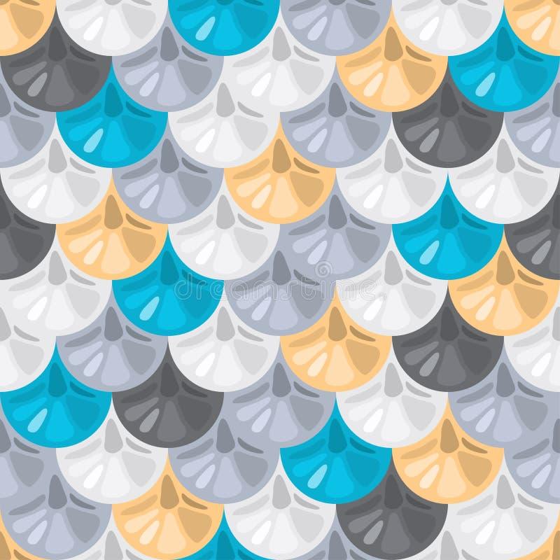 Bezszwowy kolorowy rzeczny rybi waży royalty ilustracja